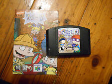Rugrats In Paris:The Movie Nintendo N64 Game w/Manual Cleaned & TESTED-Black