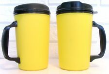 STORE CLOSING - 34 oz YELLOW THERMO SERV INSULATED TRAVEL MUGS CUPS