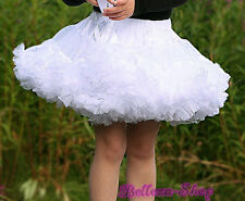 White Girl Pettiskirt Skirt Dance Tutu Petticoat Party Toddler Sz 6-7 PP001A