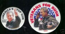 America's TOP GUN 2  George W. BUSH 2004 pins VETERANS