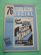 REVISTA - MAGAZINE BOLETIN DE LEGISLACION SOCIAL Nº 76