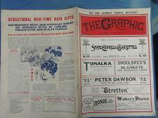WWI WAR GUERRE 14/18 : revue THE GRAPHIC 1916 Nr 2451 adv. THREE NUNS TOBACCO