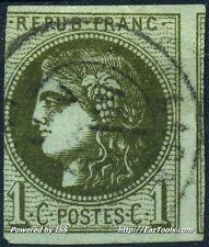 FRANCE CERES N° 39B AVEC OBLITERATION COTE 175€