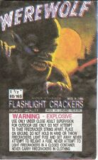"VINTAGE ORIGINAL ""WEREWOLF BRAND"" 1 1/2"" 80/16s FLASHLIGHT CRACKER LABEL CHINA"