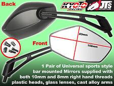Par universales de deporte Espejos Fit 10mm Y 8mm para caber Hyosung gv125 Gv250