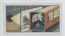 1934 B Morris How Films Are Made Tobacco Base #16 Projection Background Card 0a3