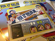 Fix It Felix Jr Arcade Art Kit: Side Art, Marquee, Bezel, Cpo