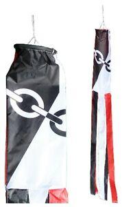 Black Country Region Flag Nylon 5' Windsock