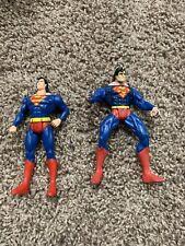 "Vtg Lot of 2 1995-1997 DC Comics SUPERMAN Collectible Action Figures 5"" P95"