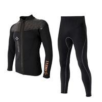 Men 3mm Neoprene Wetsuit Jacket Long Sleeve Wetsuit for Diving Canoeing