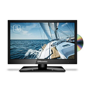 """EMtronics 19"""" Inch HD Ready LED 12v TV with Freeview HD and Built in DVD Player"""