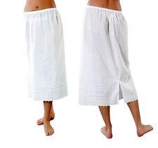 Ladies Poly Cotton Waist Half Slip Underskirt Wide Embroidered Hem Size 12-26
