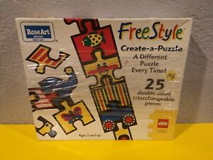LEGO Freestyle Create-A-Puzzle Rose Art SIB NEW 1996 25 double sided pieces