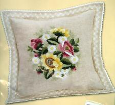 Sunflower FLOWERS and LACE Embroidered Pillow KIT ~ NEW