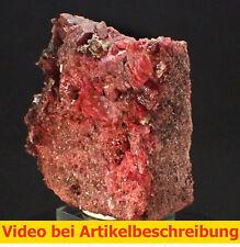 5974 Rhodonit Morro da Mina mine Brasilien minerau specimen Mineral  MOVIE