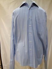 Tommy Hilfiger Men's Long Sleeve XL Button Up Casual Dress Shirt Blue 17 36-37