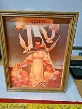 New listing Vintage Church Light-up Frame - Angel