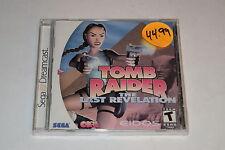 Tomb Raider The Last Revelation Sega Dreamcast Video Game New Sealed