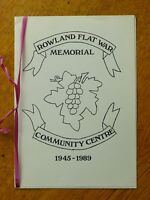 Rowland Flat War Memorial Community Centre 1945-1989 (Paperback, 1989)