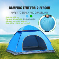 3-4 Person Automatic Camping Tent UV Protection Quick Open Up Outdoor  *f
