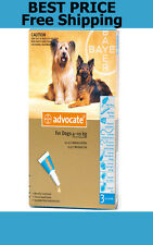 Advocate For Dogs 4-10kg Medium Dogs 3 Pack Flea and Lice Treatment EXP 10/2019