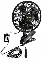 Car Fan 12V Portable Truck Vehicle RV DC Cooler Osciliating Auto Air Cooling