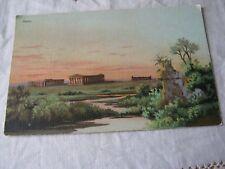 Vintage Postcard, Pesto (Paestum), Temples of Hera?