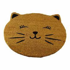Cat Design Coir Doormat Non Slip Indoor Outdoor Anti Slip PVC Backed Door Mat