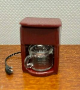 Dollhouse Miniature Coffee Maker Red by Falcon Miniatures