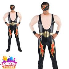 Christy's Adults Wrestler Costume WWE Fighter Fancy Dress Stag Do Outfit (L/ XL)