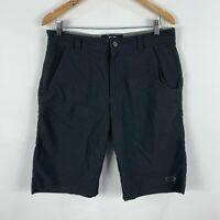 Oakley Mens Shorts Size 32 Black Zip Closure Pockets Bermuda Golf