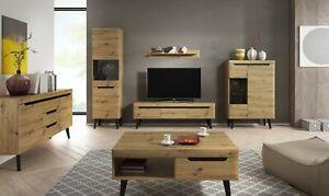 Living Room Set Furniture Wood Effect Artisan Oak Display TV Unit Dining Wall