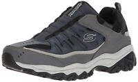 Skechers Mens After Burn Low Top Bungee Walking Shoes, Navy/Gray, Size 9.5 NfOk