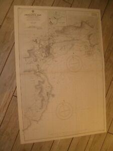 Vintage Admiralty Chart 2345 UK PENZANCE BAY & HARBOUR 1967 edn