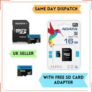 16GB Micro SD SDHC ADATA Memory Card UHS-I Class 10 With SD ADAPTER Mobile Phone
