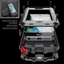 Metall Handy Tasche Full Cover Hülle Wasserdicht Stoßsicher Case iPhone SE/5S/5