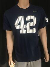 Nike New York Yankee's Mariano Rivera Pinstripe 42 Tee T-shirt Retirement XL