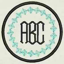 """3"""" Circle Custom Embroidery Monogram, Tag, Patch, Badge  Iron On or Sew On"""