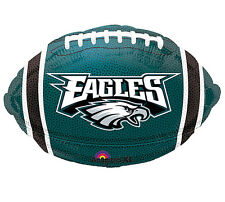 "NFL Philadelphia Eagles Football 18"" Foil Balloons Double Sided 3 Pack Helium"