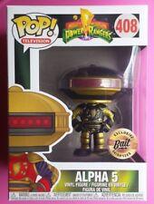SDCC Funko Pop #408 Power Rangers Bait Black And & Gold Alpha 5 W/Protector MIB