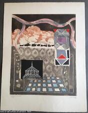 Lithographie signée Jean Couy Le kiosque à musique 32/60