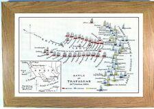 Battle of Trafalgar illustration Framed Print picture nautical Nelson