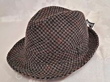 VINTAGE AUTHENTIC BALKE WOOL BLEND GRAY MEN'S FEDORA HAT SIZE:US6 7/8 EU55