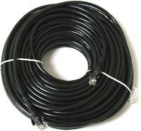 50m Metres Long RJ45 Cat5e Network LAN Cable Ethernet Patch Lead Premium Black