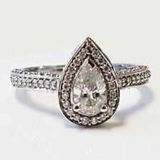 Pear White Gold SI2 Fine Diamond Rings