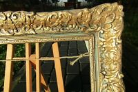 BLACK BAROQUE FRAME FOR PAINTING ROCOCO  DEEP CORE GILDED FRENCH PROVENCE