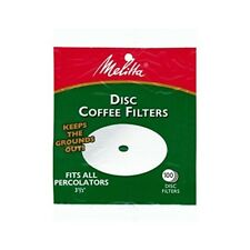 Fits All Percolators Chlorine Free Coffee White Disc Filter Paper 100 Pcs 2 Pack