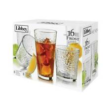 Libbey Glassware 16 pc Drinkware Set, Design: Frost