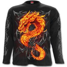 Spiral Direct Fire Drachen Langarm T-Shirt/Biker/Tätowierung/Schädel / / Gotik /