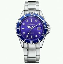 Submariner Homage Watch Stainless Steel Blue